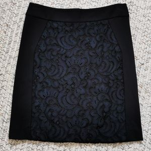 Black and Navy work skirt